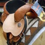 """Circle Y 3030-13 1/2"""" Wide Fit Flex 2 Kaminski Spark Barrel Racing Saddle"""
