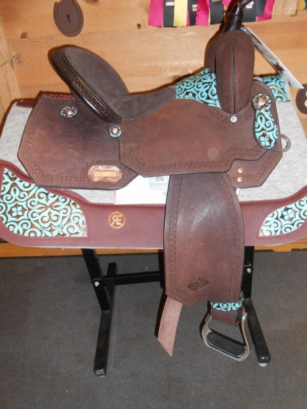 "SOLD! High Horse Madison 14 1/2"" Wide Fit Barrel Racing Saddle"