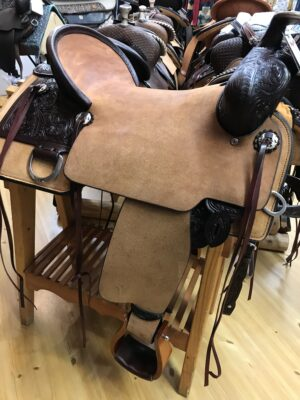 Circle Y Stockman 17 Trail Saddle - Luck Saddlery