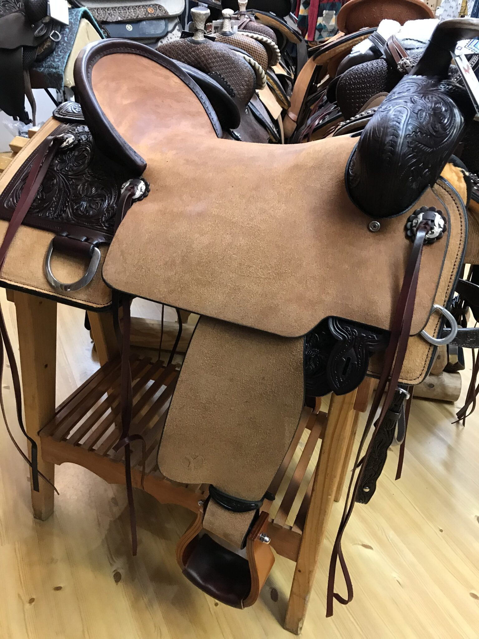 Circle Y Stockman 17 Trail Saddle - Luck Saddlery
