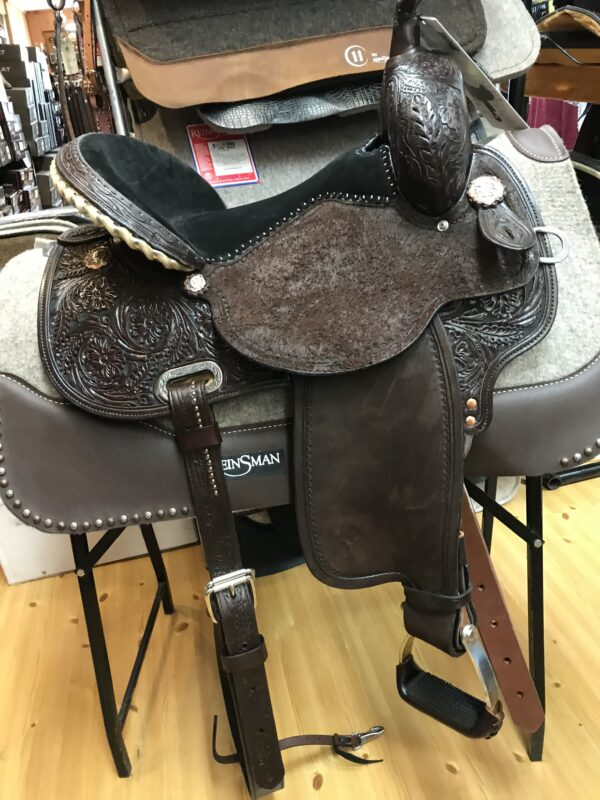 """SOLD! Circle Y Everglade 16"""" Wide Fit Flex 2 Trail Saddle"""