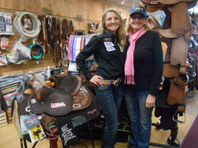 Kricket Gintner and Tammy White Champion Barrel Racers