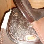 "Circle Y SP1524 Used Kelly Kaminski 15"" Medium Faith Flex 2 Barrel Saddle"