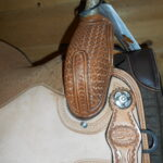 """Reinsman 4203 13 1/2"""" Med. Fit Barrel Racing Saddle"""