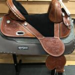"""Circle Y 1309 Fischer 15 1/2"""" Wide Fit Treeless Saddle"""