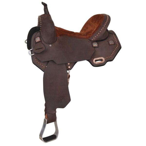 """Circle Y Just Be Natural 3915-14 1/2"""" Wide,Treeless Barrel Saddle"""